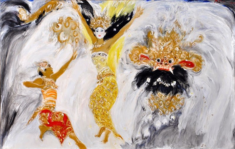 Gelora Remaja,  Srihadi Soedarsono, 280 cm x 180cm,  Oil on canvas , 2012
