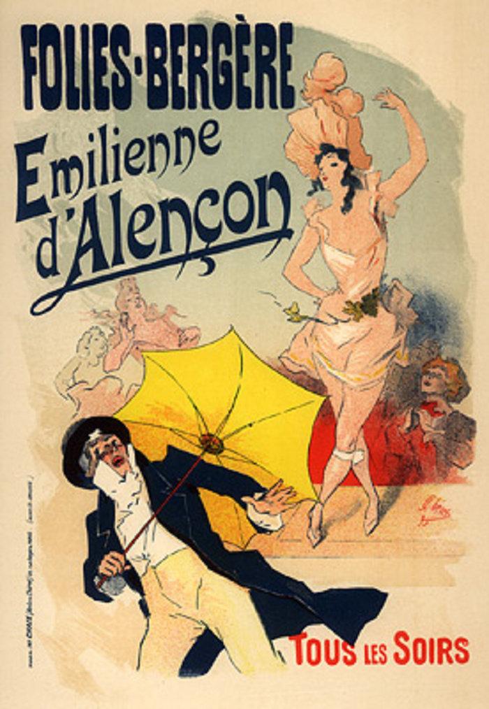 Folies Bergères, Emilienne d'Alençon, 1900