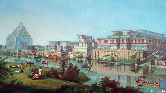 Ilustrasi peradaban Mesopotamia kuno