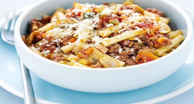 Bagaimana resep beef bacon cheese pasta?