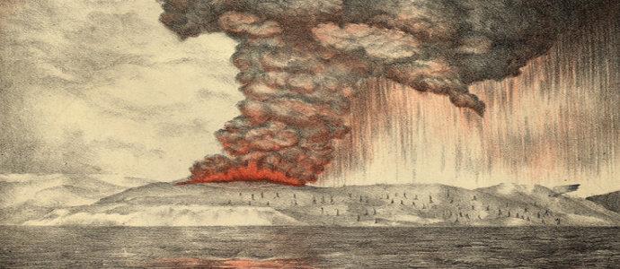 letusan Krakatau tahun 1883