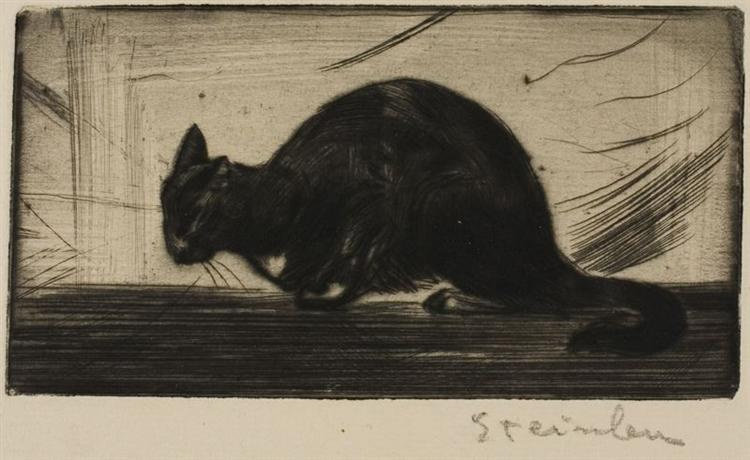 Chat Faisant Le Gros Dos, 1898
