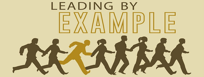 Pemimpin dengan memberi contoh
