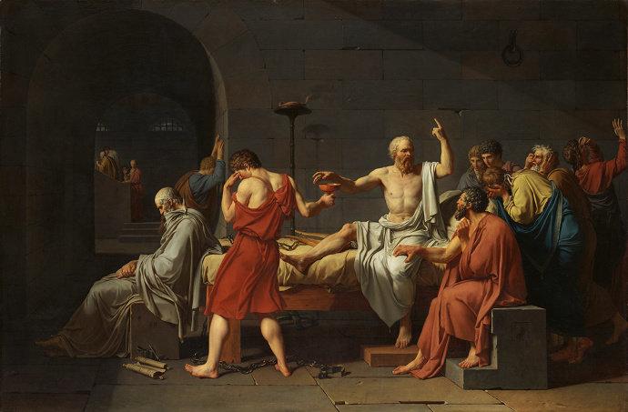 The Death of Socrates (1787), Jacques-Louis David.
