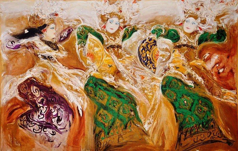 Bedaya Ela Ela, Srihadi Soedarsono, 200 cm x 130cm, Oil on canvas,  2012