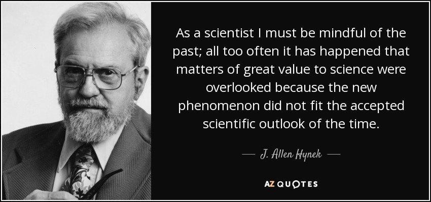 J Allen Hynek's quotes