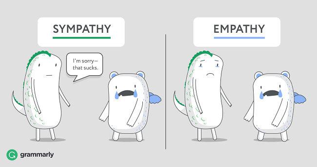 perbedaan antara empati dan simpati