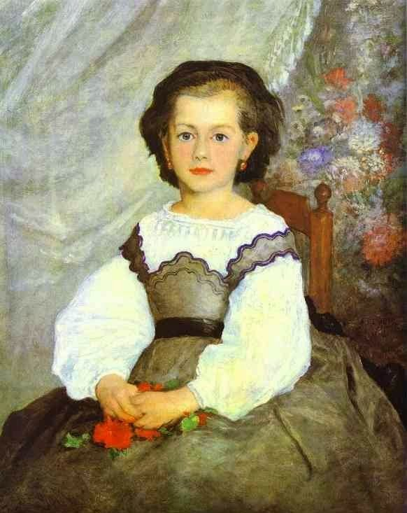 Pierre-Auguste Renoir,  Little Miss Romaine Lacaux, oil on canvas,  1864, Cleveland Museum of Art, Cleveland, OH, USA