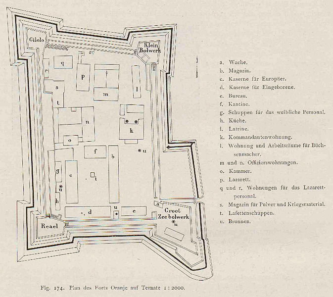 Denah Benteng Oranje tertanggal tahun 1917