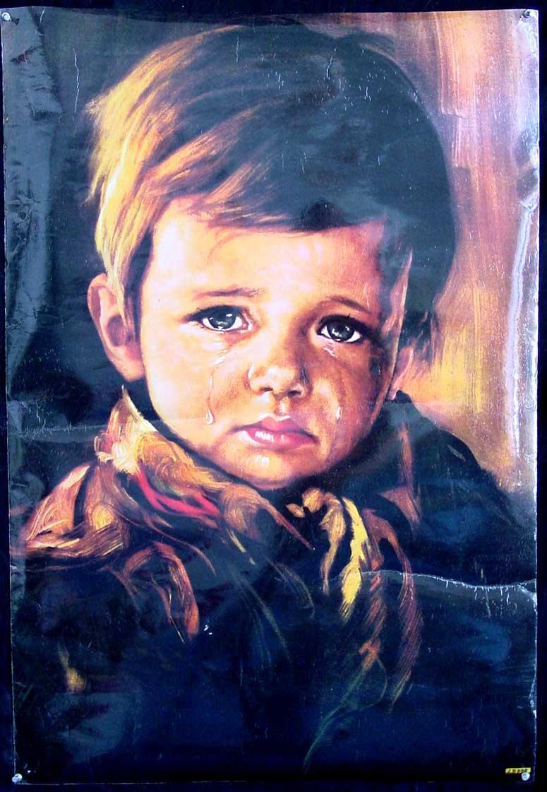 Lukisan The Crying Boy merupakan salah satu lukisan horor - Ilmu ...
