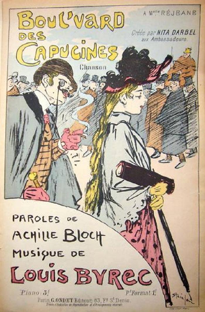 Boul'vard Des Capucines, Boulevard Des Capucines, Theophile Steinlen, 1893