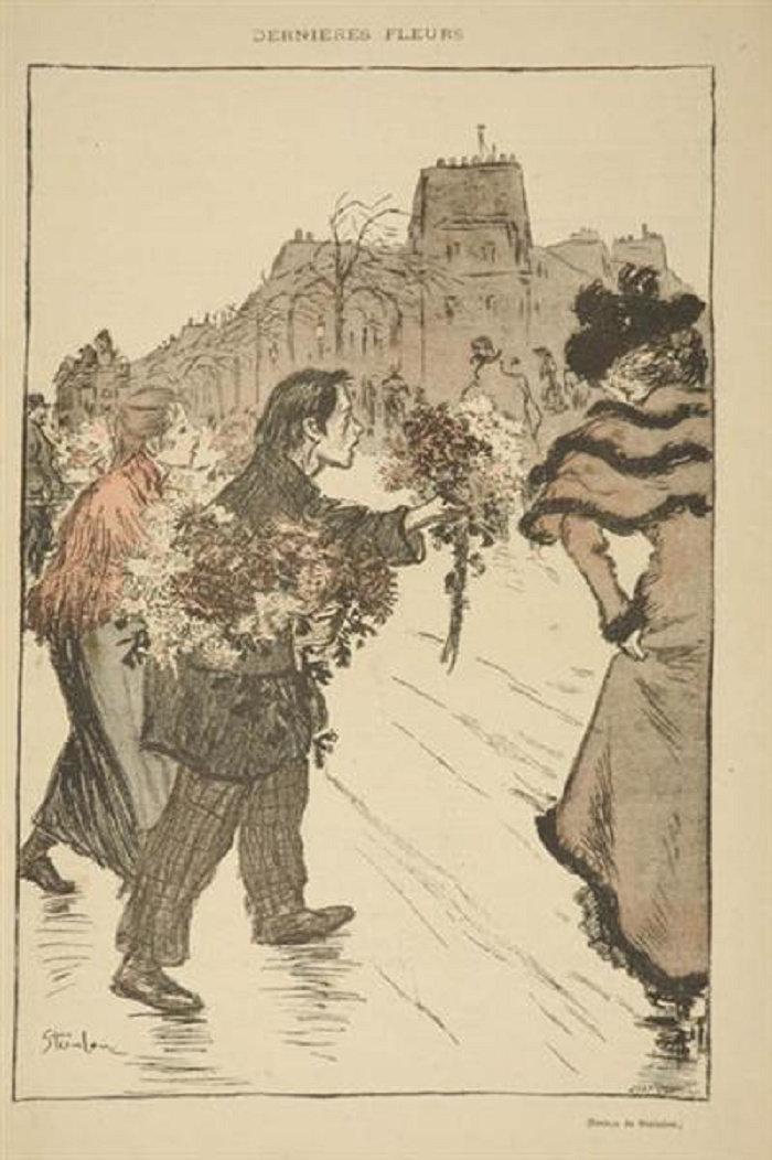Dernieres Fleurs, Theophile Steinlen, 1893