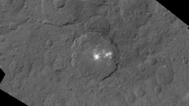 bercak sinar planet Ceres