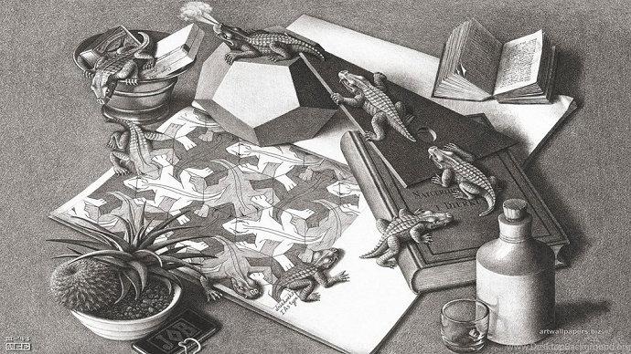 M.C. Escher - Reptiles