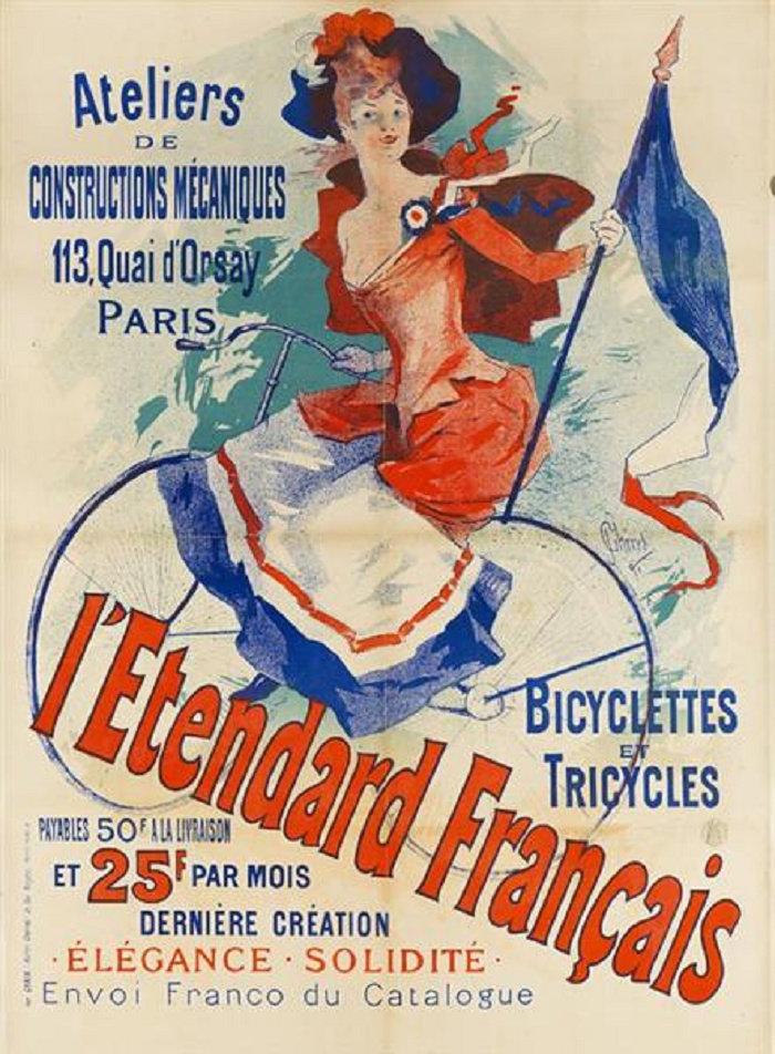 L'Etendard Français (Quai d'Orsay Bicycle Shop), 1891