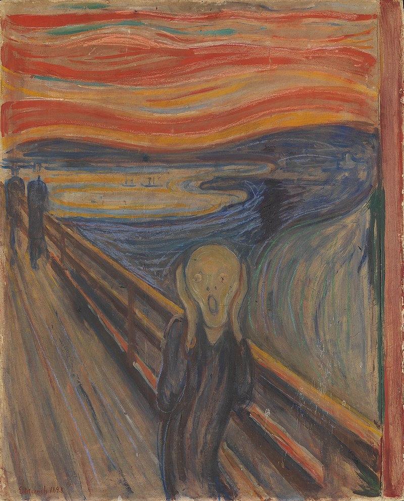 Scream, Norwegia, Edvard Munch, 1893