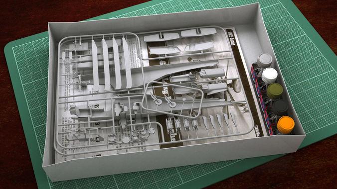 hobby-plastic-model-kit-helicopter-3d-model-max
