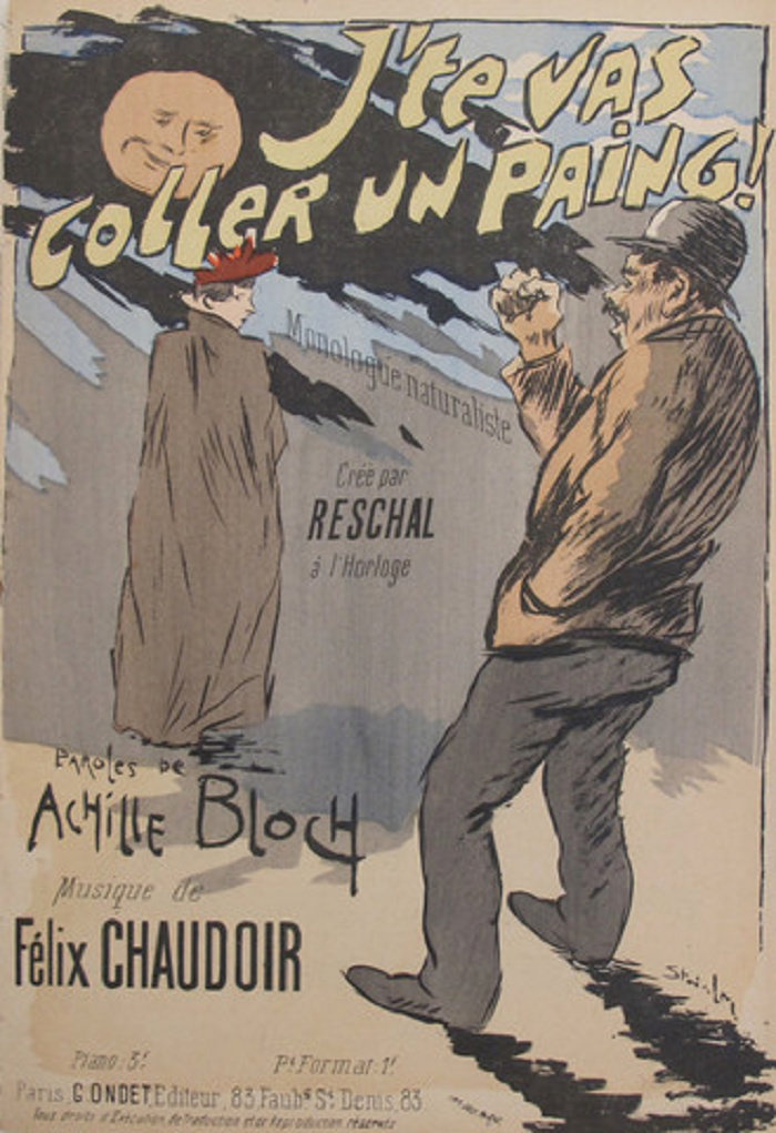 J'Te Vas Coller Un Paing, Theophile Steinlen, 1893