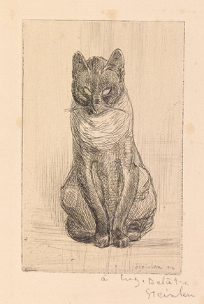 Little Cat Sitting, Petit Chat Assis, 1914