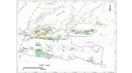 peta geologi  struktur jawa timur