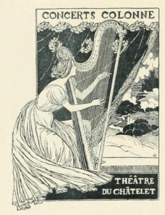 Concerts Colonne, Theophile Steinlen, 1893