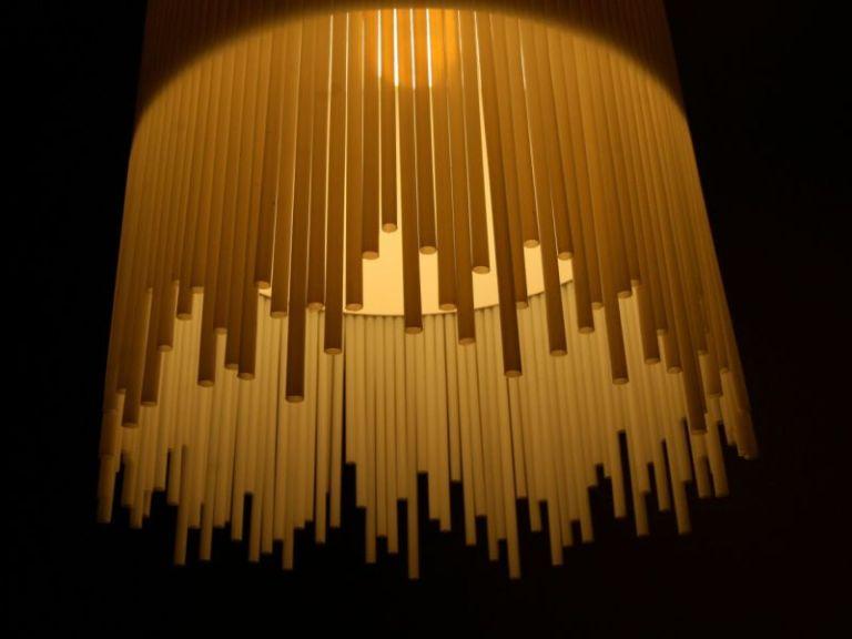 Kerajinan Tangan Dari Sedotan Dengan Gambar Lampu Gantung