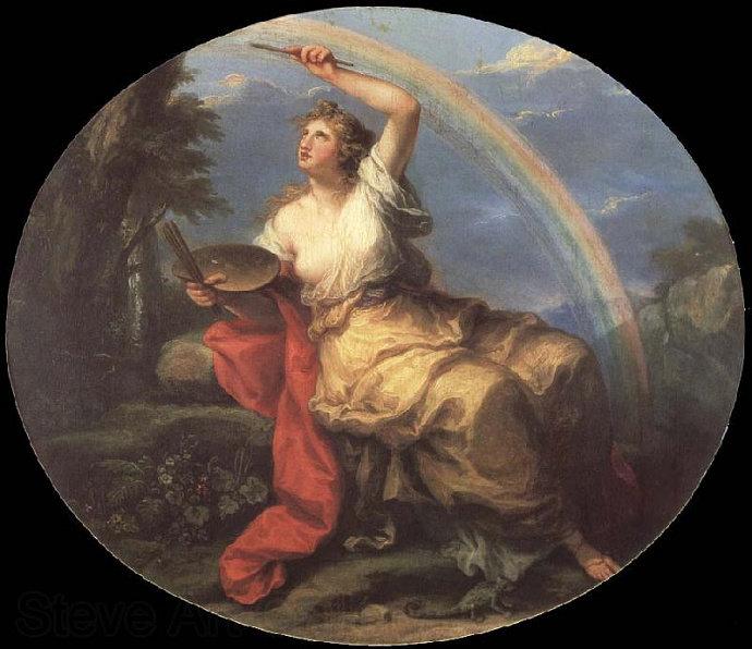lukisan Painting: Color (1780), Angelica Kauffman.