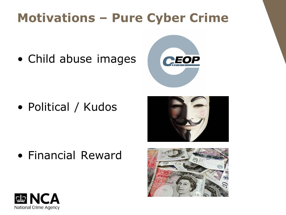 Motivations – Pure Cyber Crime