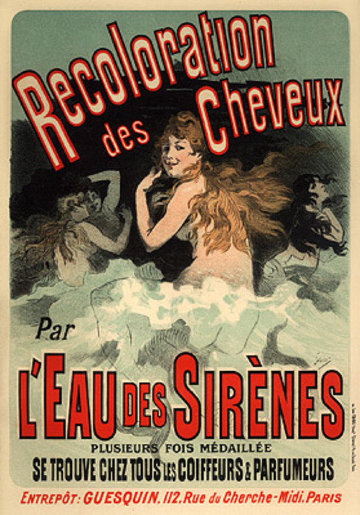 Recoloration des Cheveux par l'Eau des Sirènes, 1900