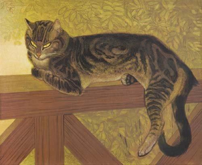 The summer - Cat On A Balustrade, L'Ete - Chat Sur Une Balustrade, 1909