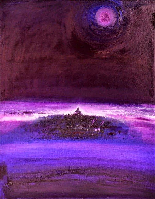 Borobudur, Soul of nature, Srihadi Soedarsono, 140 cm x 180cm, Oil on canvas, 2012