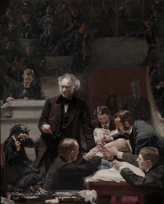 Lukisan The Gross Clinic (1889). Thomas Eakins.