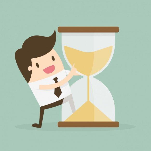 administracion-del-tiempo-con-reloj-de-arena-y-trabajador_1133-269