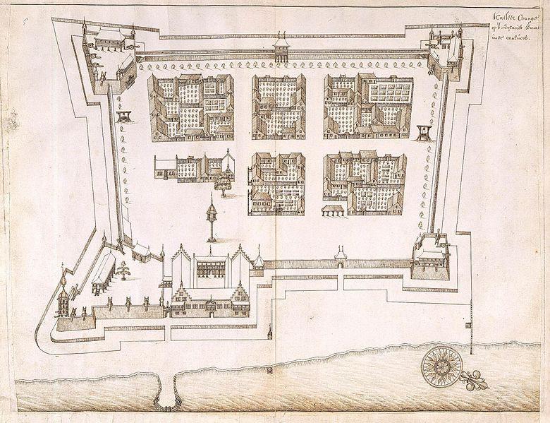 Denah Benteng Oranje tertanggal tahun 1651
