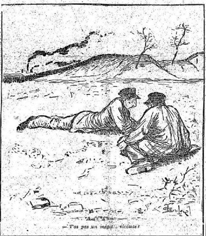 T'as pas un megot-vicomte, Theophile Steinlen, 1891