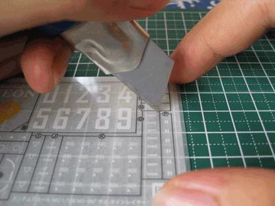 tutorial pasang dry decal gundam