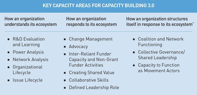 Area kunci kapasitas dalam Capacity Building