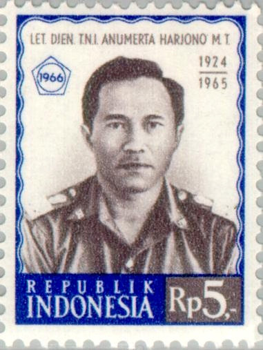 Perangko Mas Tirtodarmo Harjono keluaran tahun 1966