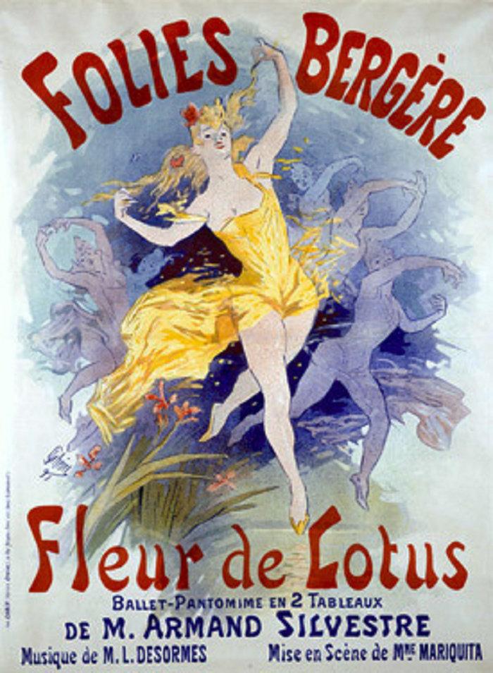Folies Bergères, Fleur de Lotus, 1893