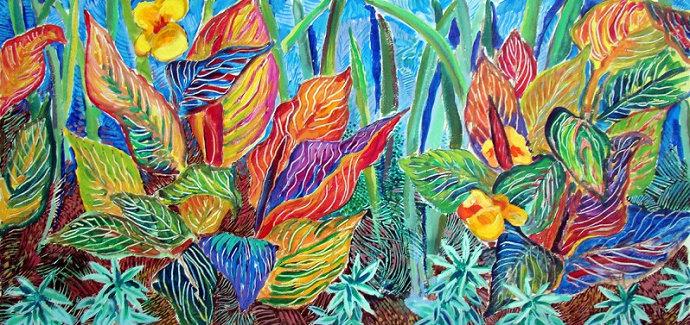 Lukisan tumbuh-tumbuhan