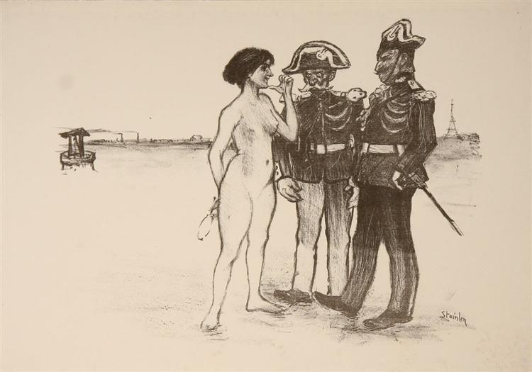 La Verite Et Les Deux Gendarmes, Theophile Steinlen, 1891