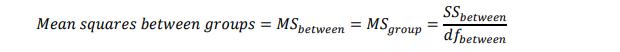 Varians antar kelompok atau mean squares between groups