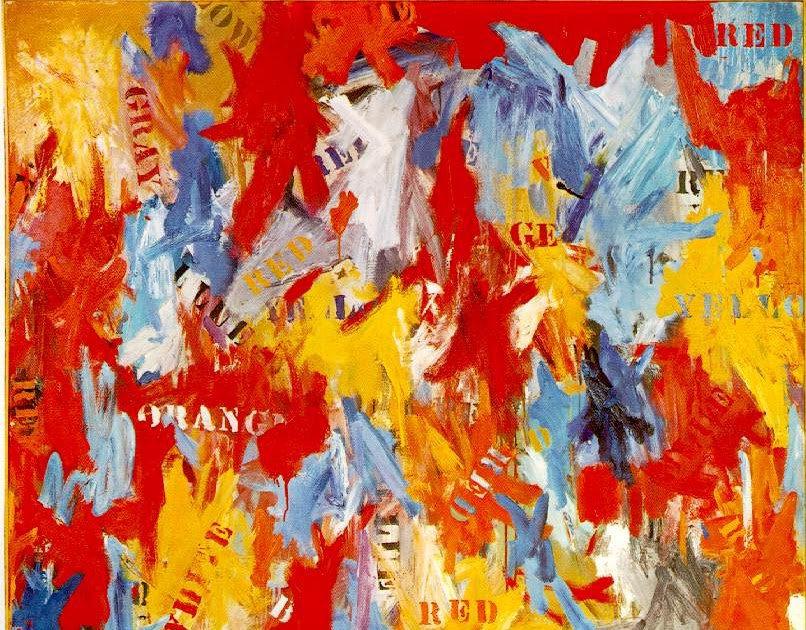 Lukisan Jasper Johns The False Start