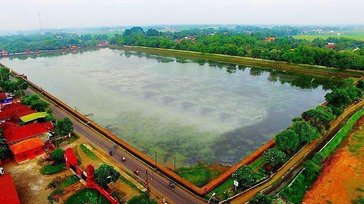Kolam Segaran tampak dari atas